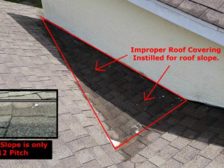 Improper Roof Covering Installed
