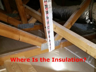 Missing Insulation in the Attic