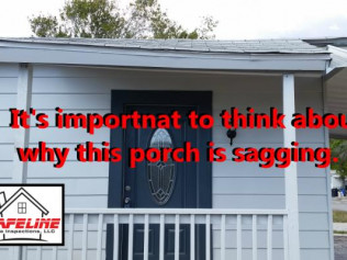 Why is this porch sagging?