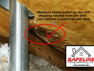 Attic Moisture Stains