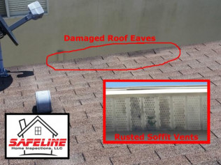 Rusted Soffit Could Mean Roof Leaks