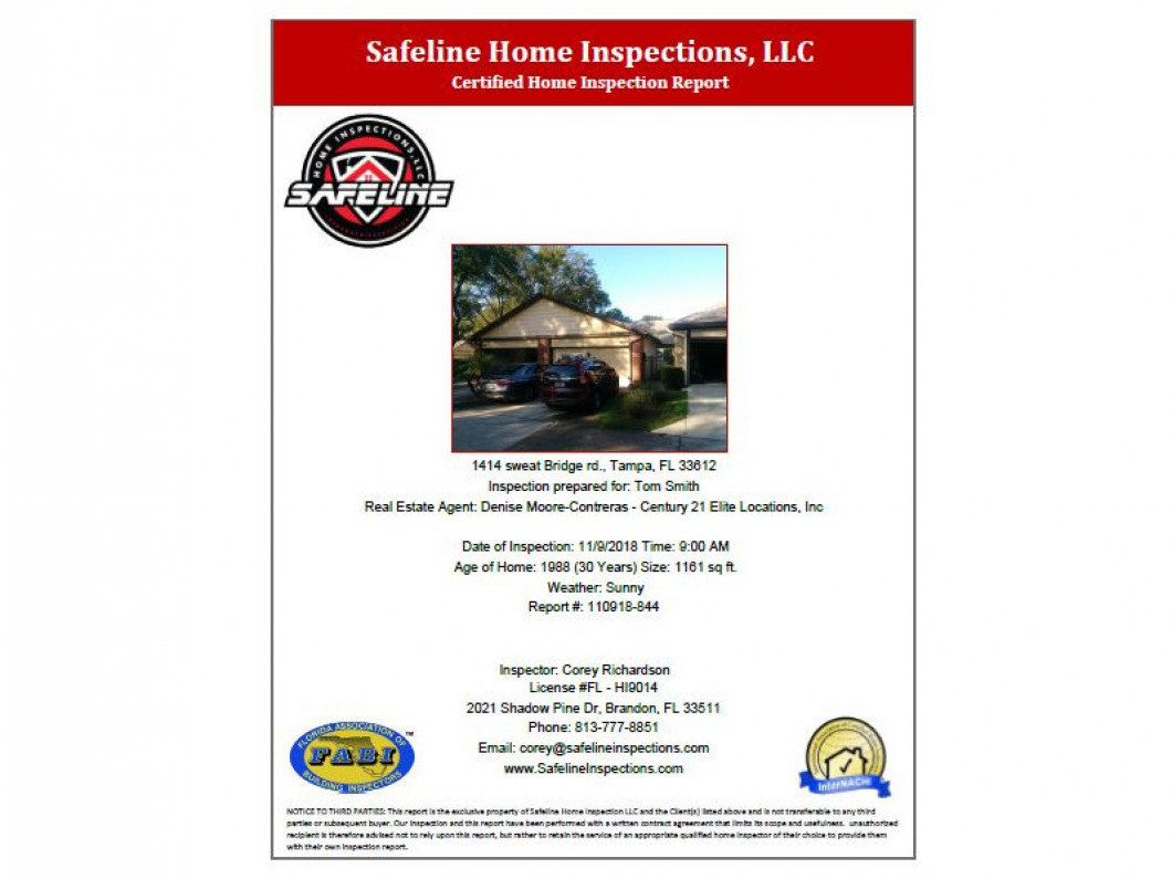 See what our Inspection reports look like